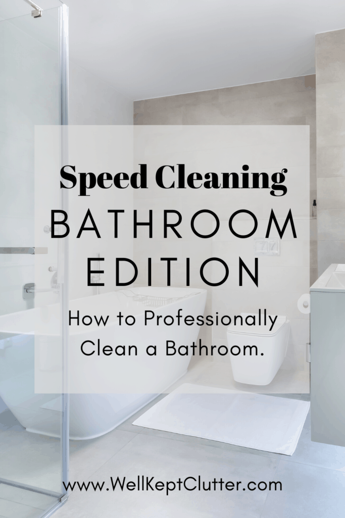 How to Professionally Clean a Bathroom