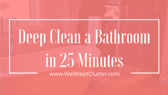 Learn how to Professionally Clean a Bathroom quickly while maintaining quality,
