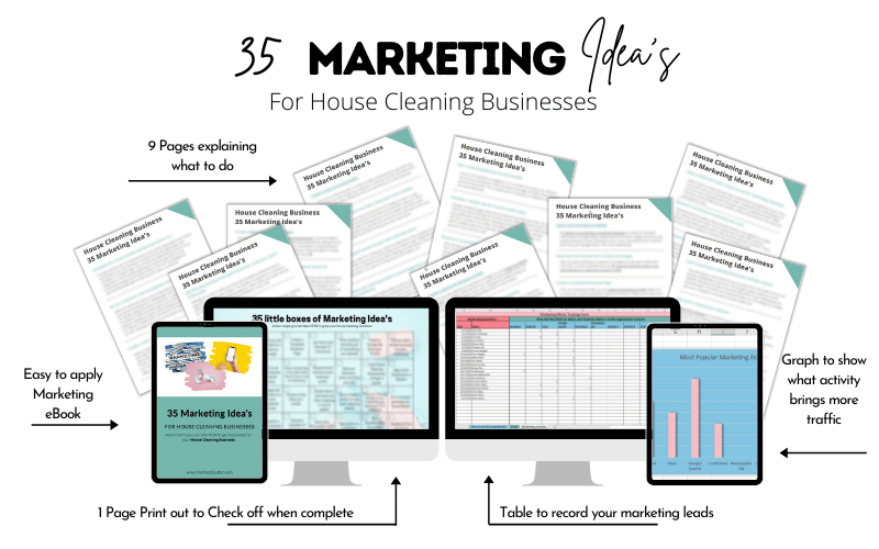 35 idea's to get more house cleaning jobs