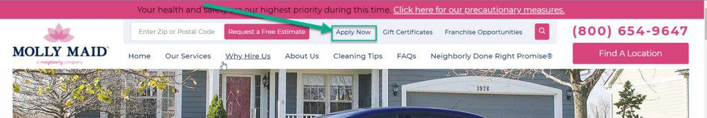 Search openings for large cleaning companies.