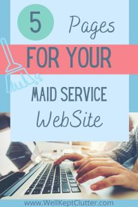5 Pages for your Maid Service website
