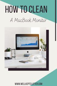 How to clean a macbook screen